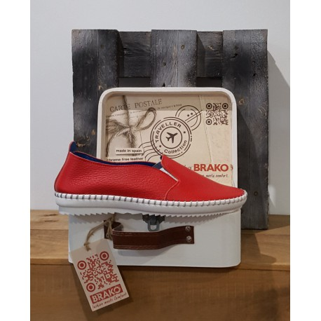 Chaussures femme BRAKO CLIO ROJO RED ROUGE TRAVELLER