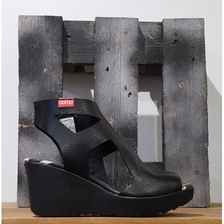 Chaussures compensées femme Clamp BAKAR BLACK NOIR