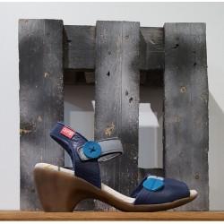 Chaussures femme Clamp CARDAN BLUE GREY BLEU GRIS