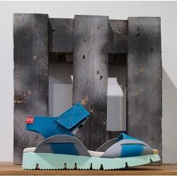 Chaussures femme Clamp TOMEK BLUE GREY BLEU GRIS