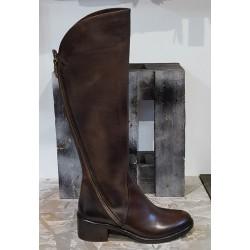 Bottes femme EMANUELE CRASTO patiné marron