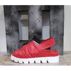 Sandales femme Tribe rouge