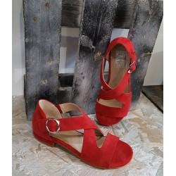 Sandales femme EMANUELE CRASTO rouge