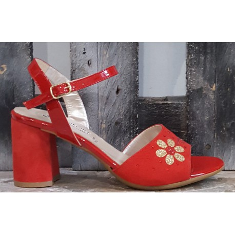 Chaussures femme Confort rouge
