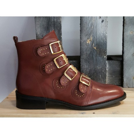 Chaussures femmes nestor amorin bordeau
