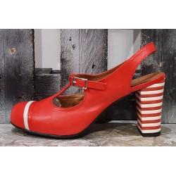 Chaussures femme NEMONIC rouge pois rouge