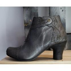 Chaussures femme GOLD BUTTON gris antrhacite