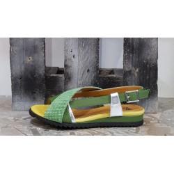 Chaussures sandales femme Vladi Kiwi jaune