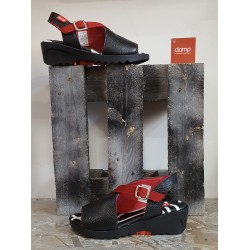 Chaussures femme Clamp BLK RED