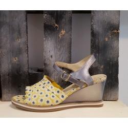 Sandales compensées femme LIBRE COMME L'AIR jaune