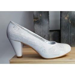 Chaussures mariage femme àlinha blanche