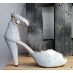 Chaussures mariage femmes àlinha blanche