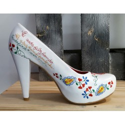Chaussures mariage femme àlinha blanche roge