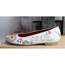 Chaussures femme àlinha blanche rouge