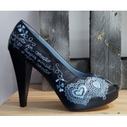 Chaussures femme àlinha noir bleu