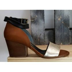 Chaussures femme Fiorifrancesi cuir naturel doré beige
