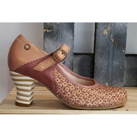 Chaussures femme GOLD BUTTON missouri rose rock amatista