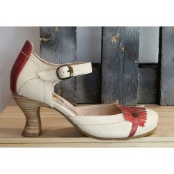 Chaussures femme GOLD BUTTON PERLA QUARK ROJO