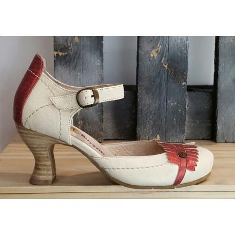 Chaussures femme GOLD BUTTON PERLA QUARK ROJO