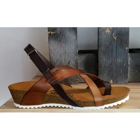 Chaussures femme MARILA cuir naturel