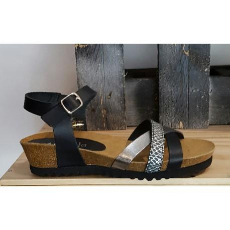 Chaussures femme MARILA noir argent