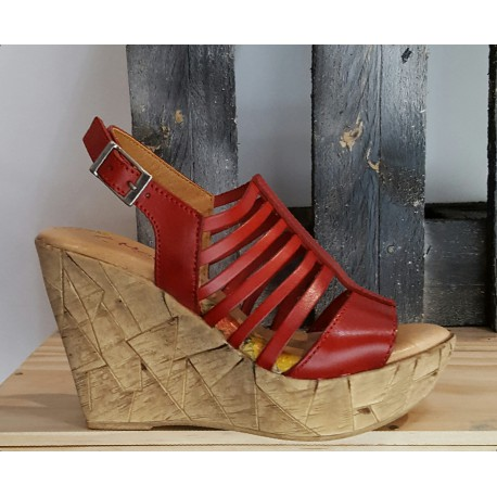 Chaussures femme MARILA rouge