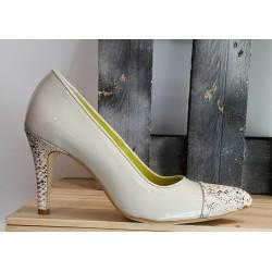 Chaussures femme Nestor Amorin perla laminé serpant