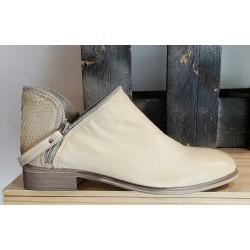 Chaussures femme Tribe cuir naturel perla beige