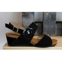 Chaussures compensées femmes Confort noir
