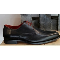 Chaussures homme Charles Dann noir liseré rouge