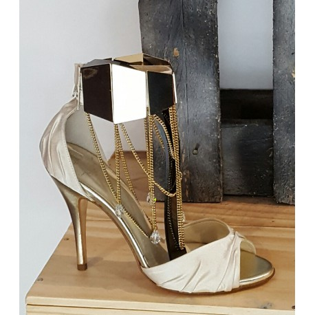 Chaussures femme Aennis eunis noir doré
