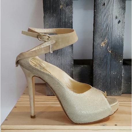 Chaussures femme Aennis eunis doré perla platine