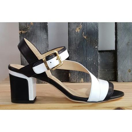 Chaussures femme Fiorangelo noir blanc