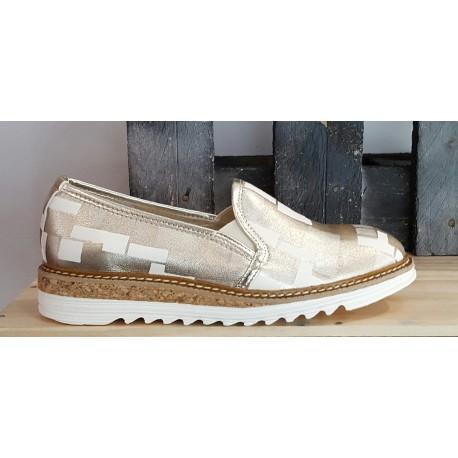 Chaussures femme Debutto Donna oro beige