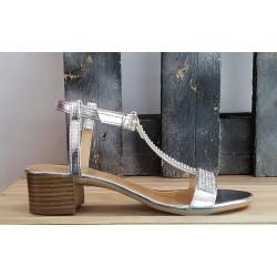 Chaussures femmes Once argenté strass