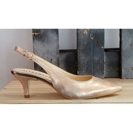 Chaussures femme Altramera cipria platine rose perla
