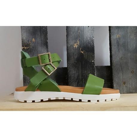 Sandales femme Tribe verte