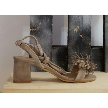 Sandales femme Tribe taupe