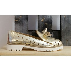 Chaussures femme Paola Firenze platine or