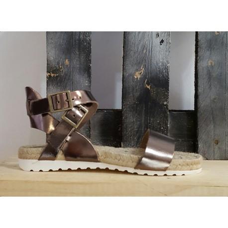 Sandales femme Tribe plarine bronze