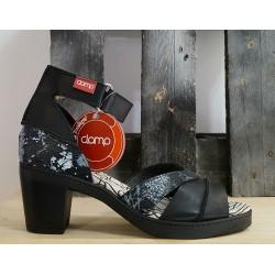 Chaussures femme Clamp noir blanc