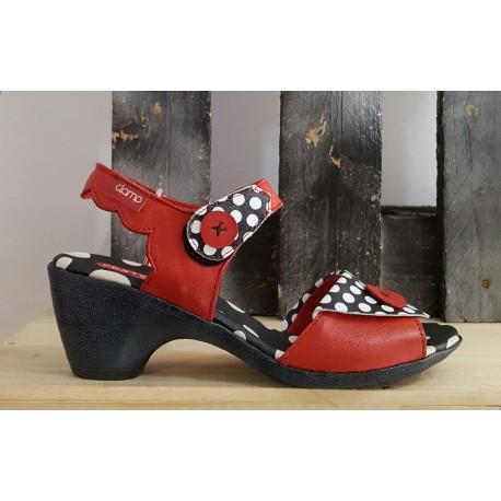 Chaussures femme Clamp rouge noir