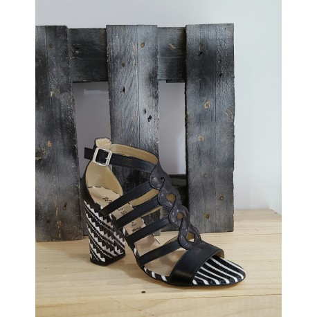 Chaussures femme Barbara Renzi noir blanc