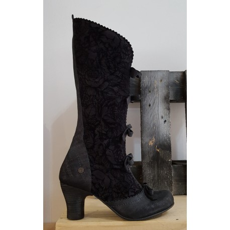 Chaussures femme GOLD BUTTON wave marino silky noir