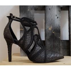 Chaussures femme Tribe noir bronze