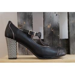 Chaussures femme NEMONIC noir argent