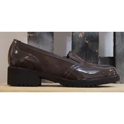 Chaussures femme Confort marron verni