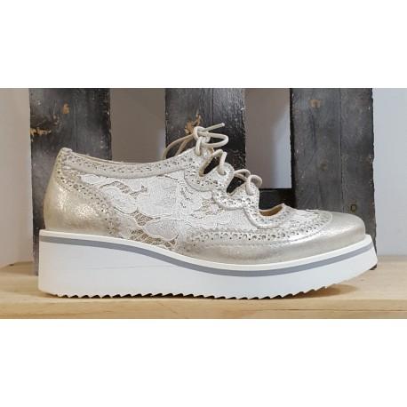 Chaussures femme BRAKO DAVE METAL PLATINO