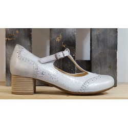 Chaussures femme BRAKO DAVE METAL SILVER MINTHY